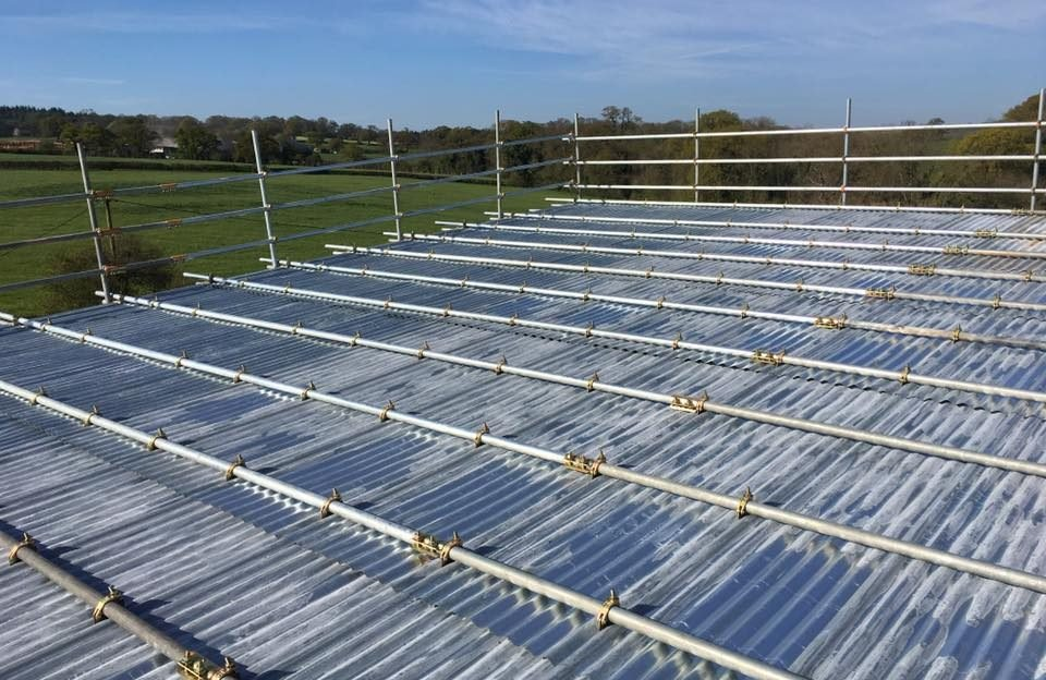 Temporary Roof by Scaffolding Contractors Dorset - ADK Scaffolding Ltd