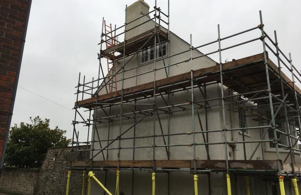 Scaffolding for a Residence - ADK Scaffolding Ltd