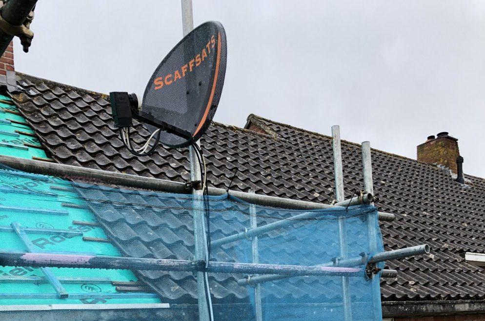 Permanent Scaffold Satellite Dorset - ADK Scaffolding Ltd
