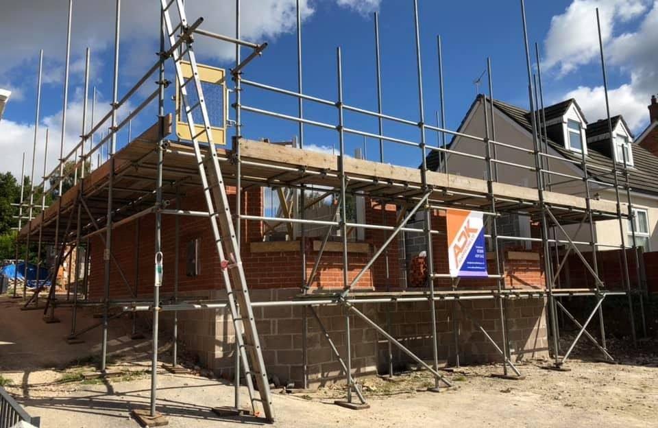 Residential Scaffold Blandford Project - ADK Scaffolding Ltd