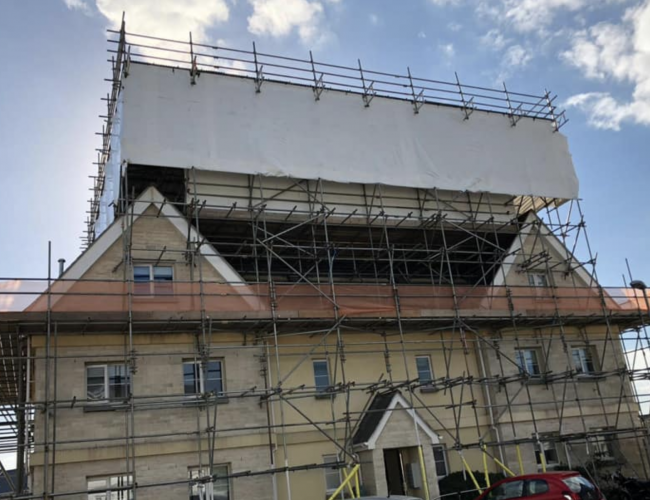 Temporary Roofs - Temporary Roof Coverings - ADK Scaffolding Ltd